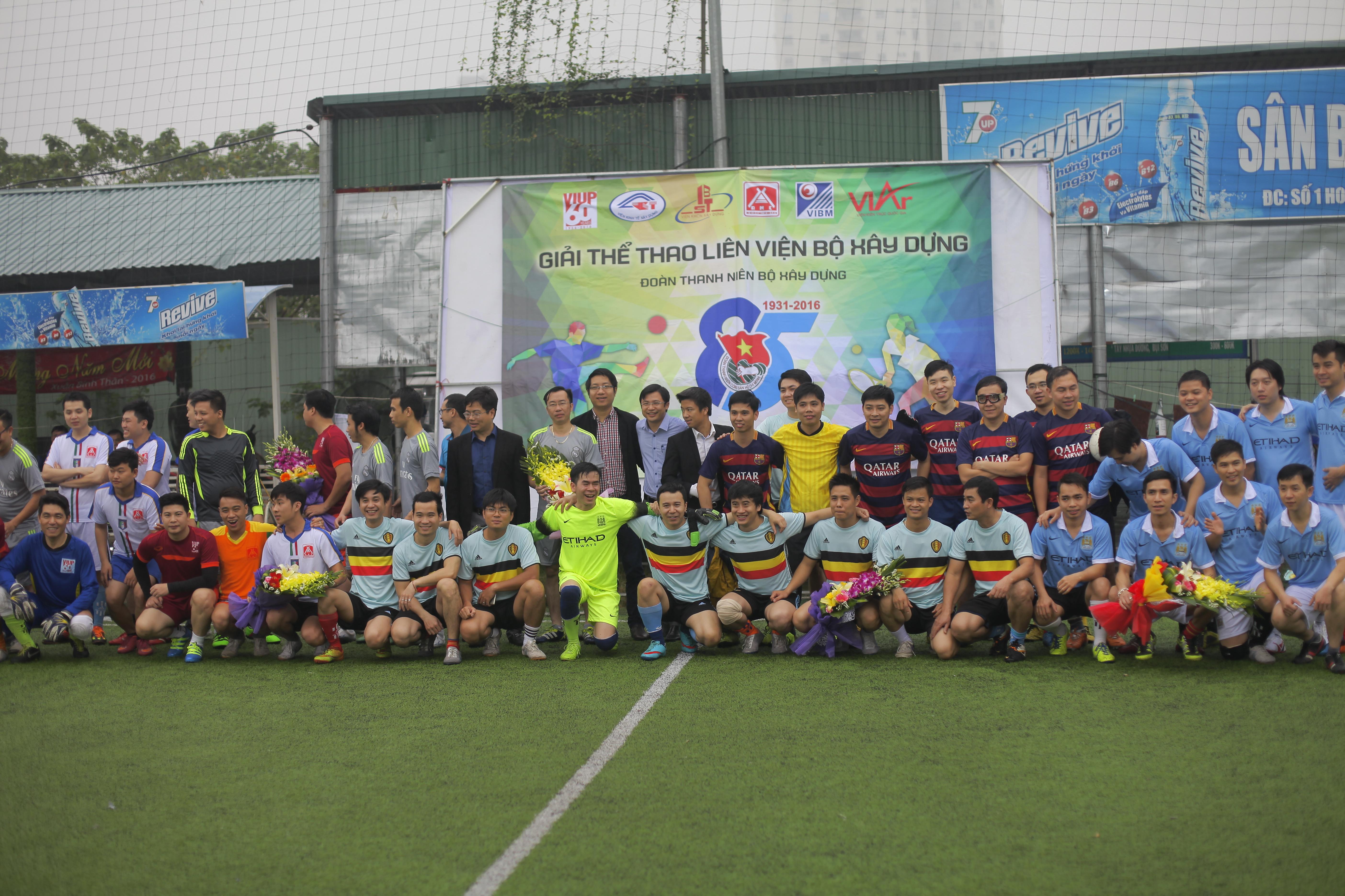 Viện KTQG tham dự giải thể thao liên Viện Bộ Xây dựng
