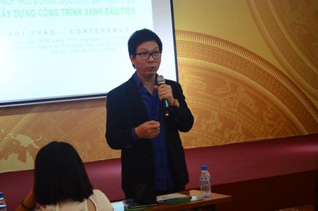 Ông Đỗ Hữu Nhật Quang, đại diện Công ty GreenViet phát biểu