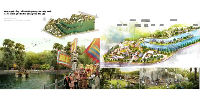 Quy hoạch tổng thể hệ thống công viên – cây xanh và hồ TP Hà Nội (Công viên Thủ Lệ)