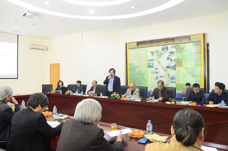 Viện trưởng Viện Kiến trúc Quốc gia Đỗ Thanh Tùng phát biểu khai mạc hội thảo