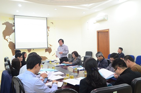 Viện trưởng Đỗ Thanh Tùng phát biểu tại buổi họp