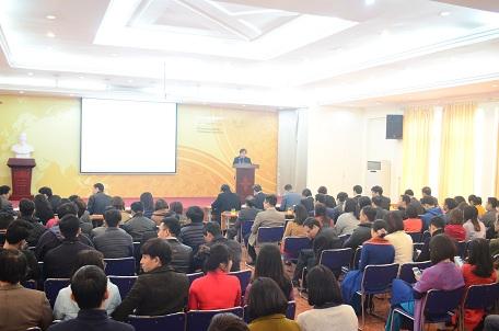 Viện trưởng Đỗ Thanh Tùng báo cáo tổng kết năm 2016 và phương hướng nhiệm vụ năm 2017