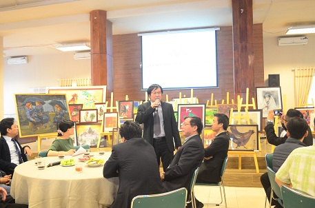 Viện trưởng Đỗ Thanh Tùng phát biểu tại buổi gặp mặt
