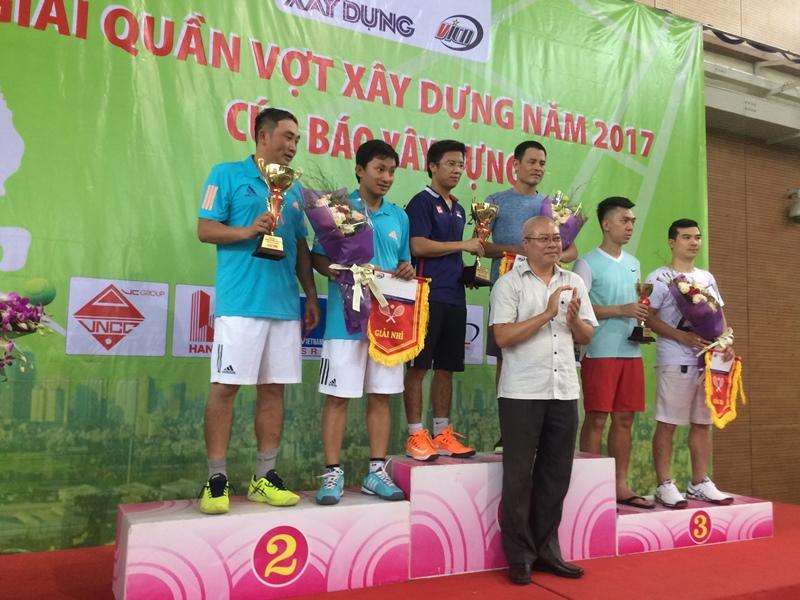 Viện KTQG giành giải Nhất giải Quần vợt Xây dựng 2017