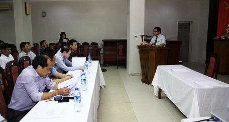 Viện trưởng Viện Kiến trúc Quốc gia Đỗ Thanh Tùng phát biểu