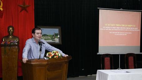Ông Trần Xuân Tiến - Giám đốc Sở Xây dựng Hà Tĩnh phát biểu ý kiến