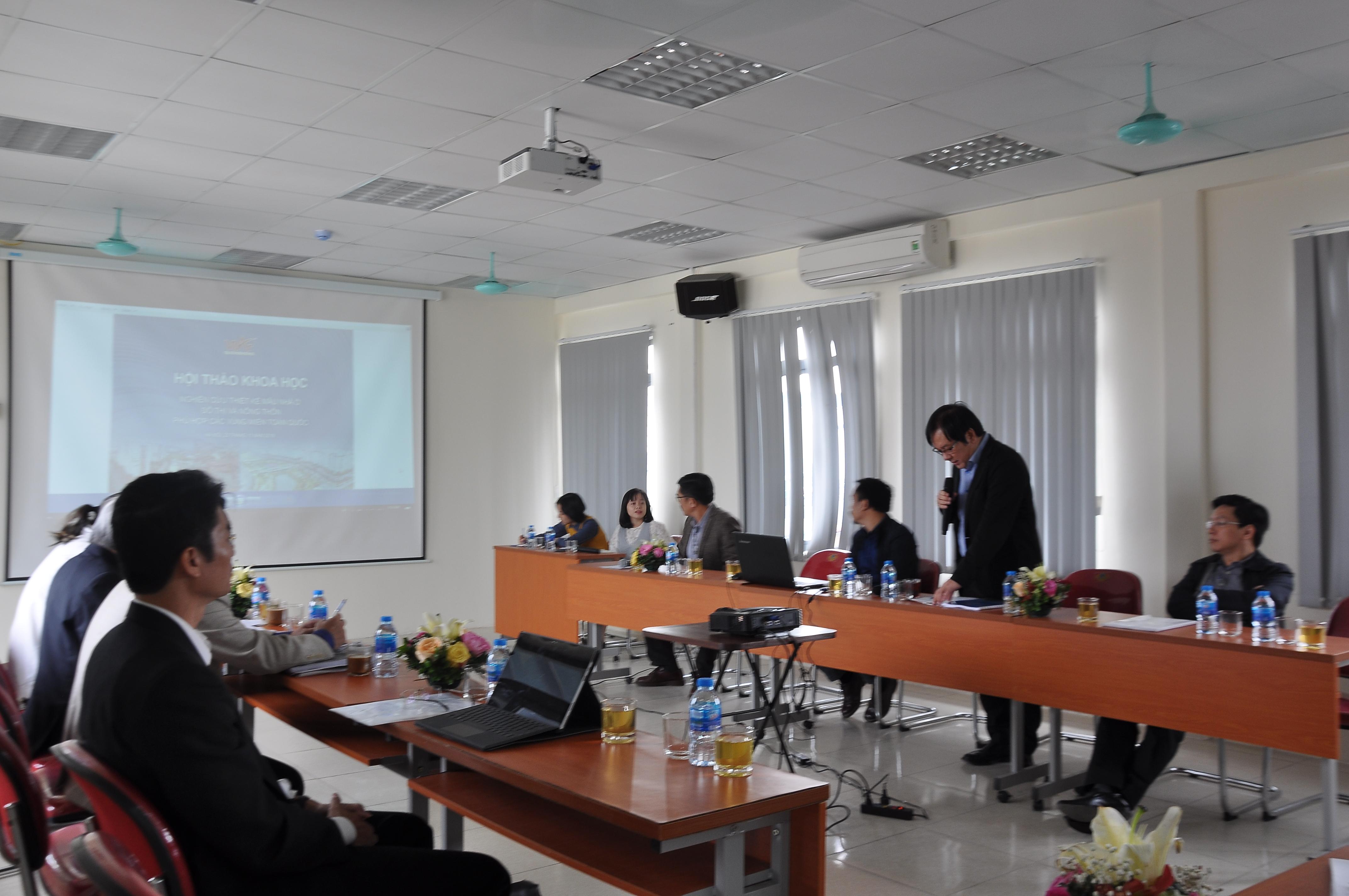 """Hội thảo """"Nghiên cứu thiết kế mẫu nhà ở đô thị và nông thôn phù hợp các vùng miền toàn quốc"""""""