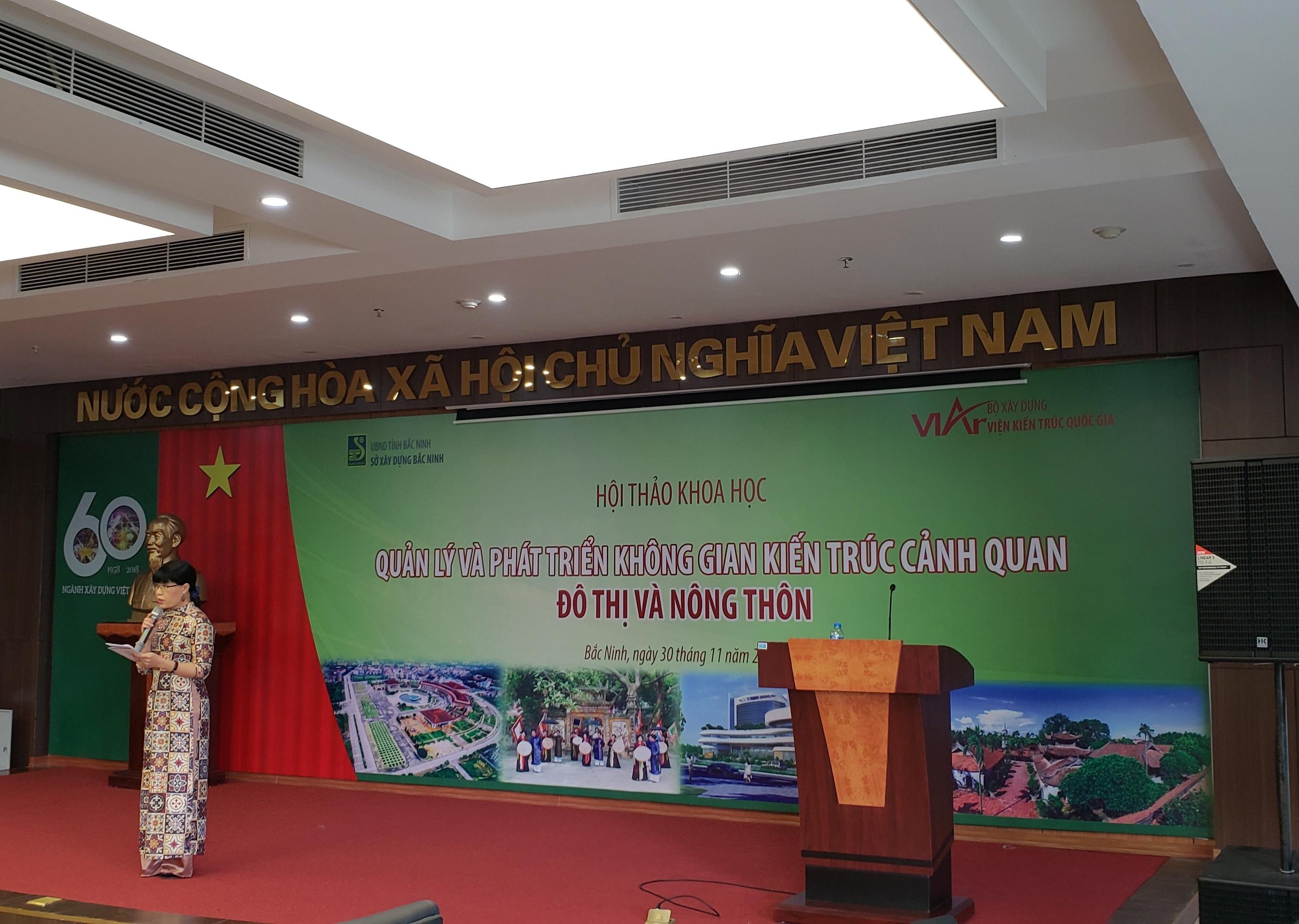 """Viện KTQG tổ chức Hội thảo """"Quản lý và phát triển kiến trúc cảnh quan ở nông thôn"""""""