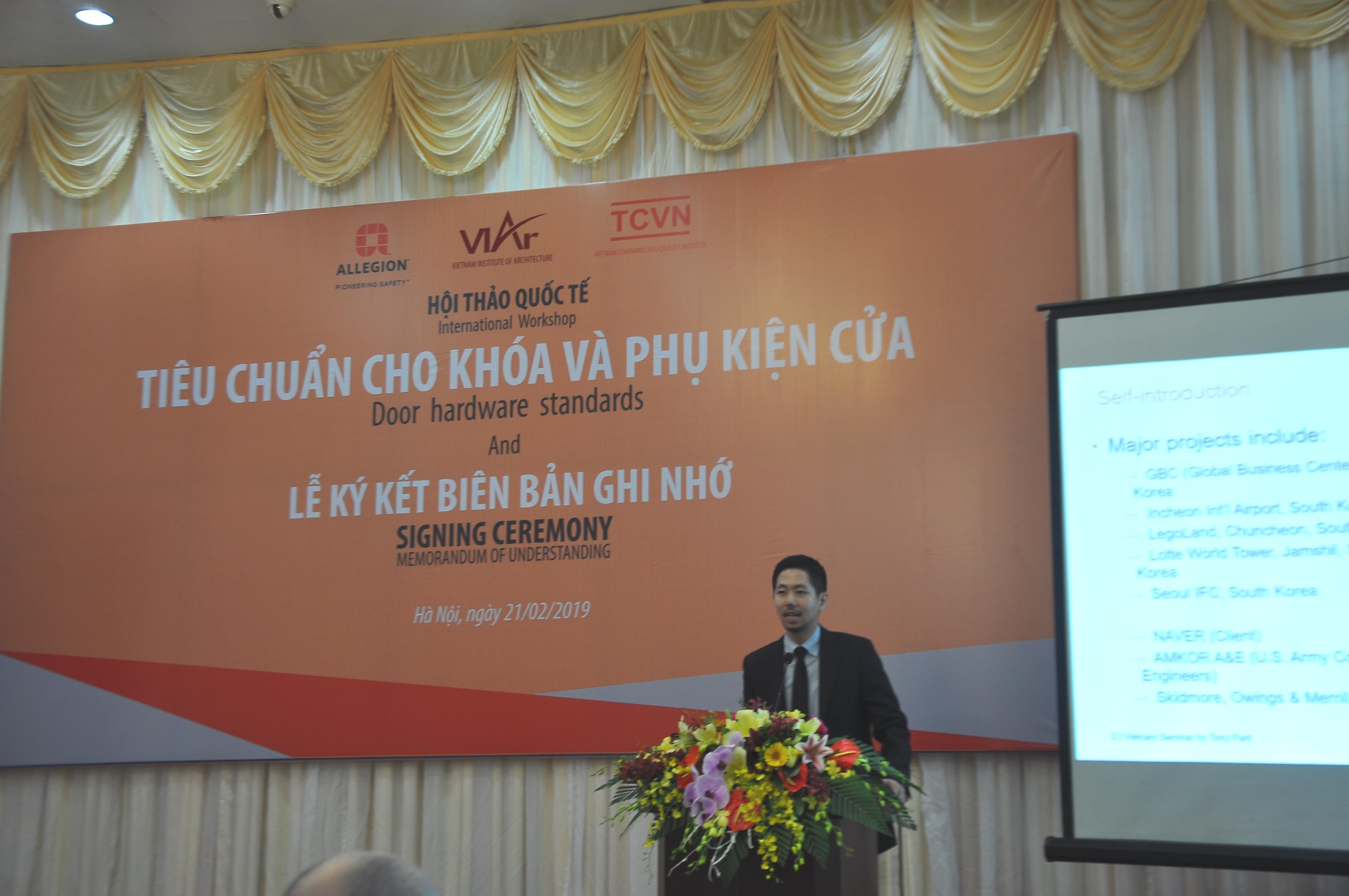Ông Tony Park - Thành viên Hội Tư vấn kết cấu hệ thống phần cứng Kiến trúc