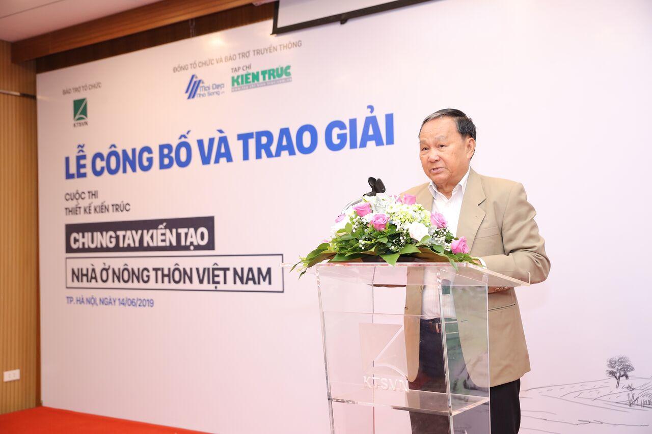 1 kts Nguyễn Tấn Vạn - Chủ tịch hội Kiến trúc sư Việt Nam phát biểu khai mạc buổi lễ