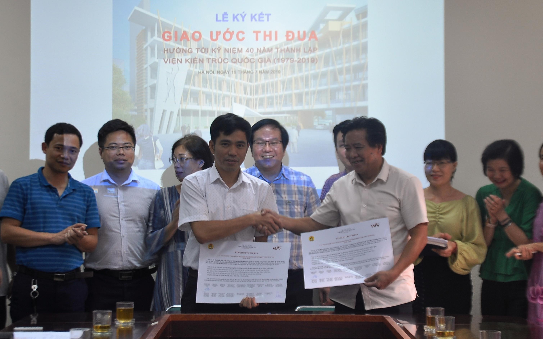 Lễ ký kết Giao ước thi đua hướng tới kỷ niệm 40 năm thành lập Viện Kiến trúc Quốc gia