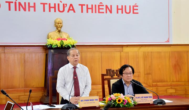 Viện Kiến trúc Quốc gia đồng chủ trì Hội nghị lấy ý kiến về xây dựng đô thị Thừa Thiên Huế thành đô thị có tính chất đặc thù về di sản hướng tới trở thành phố trực thuộc Trung ương