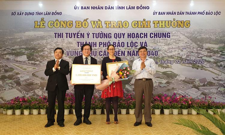 Liên danh Viện Kiến trúc Quốc gia – AREP Ville đạt Giải Nhất cuộc thi Ý tưởng quy hoạch chung Thành phố Bảo Lộc và vùng phụ cận đến năm 2040