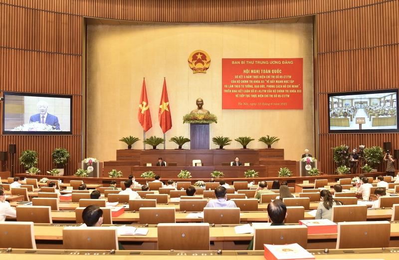 Đảng ủy Viện Kiến trúc Quốc gia tham gia Hội nghị trực tuyến toàn quốc công tác Đảng tại điểm cầu truyền hình