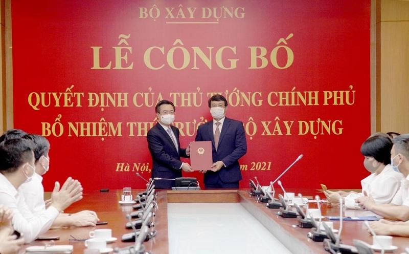 Lễ công bố Quyết định của Thủ tướng Chính phủ bổ nhiệm Thứ trưởng Bộ Xây dựng