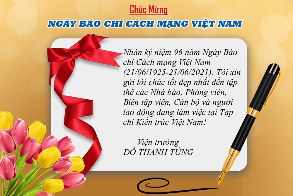 Thiệp chúc mừng Ngày Báo chí Cách mạng Việt Nam 21-6